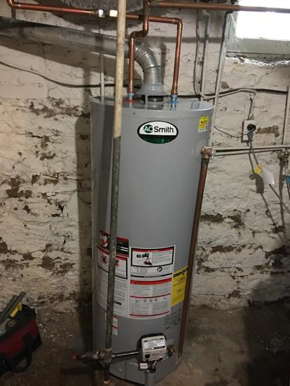 Professionally installed water heater 64109