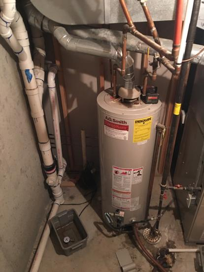 Water heater replaced by KC Water Heaters