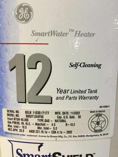 Within One Year From The Date Of Water Heater Installation To Maintain Parts And Labor Coverage For 10 Years Otherwise Warranty Reverts