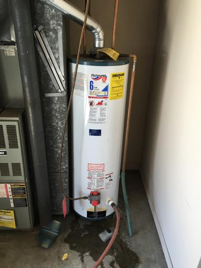 Copper gas line to water heater