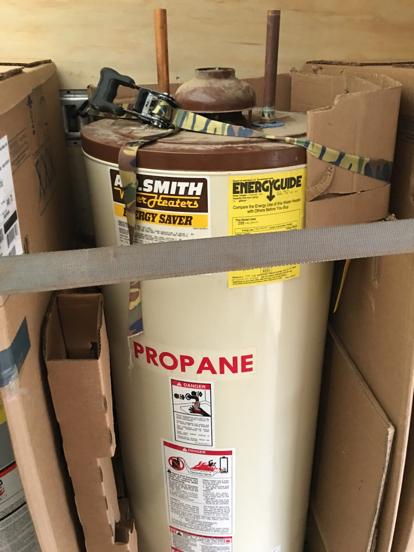 This is an old AO Smith propane water heater