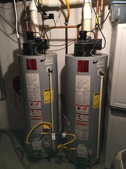 water heaters installed in tandem