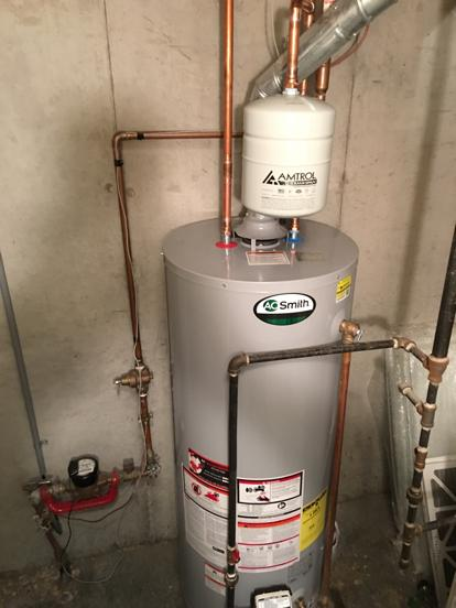 hot water heater installed by KC Water Heaters
