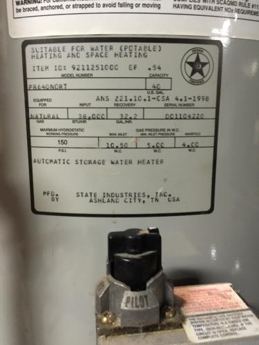 State Select Hot Water Heater 8