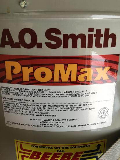 AO Smith old water heater