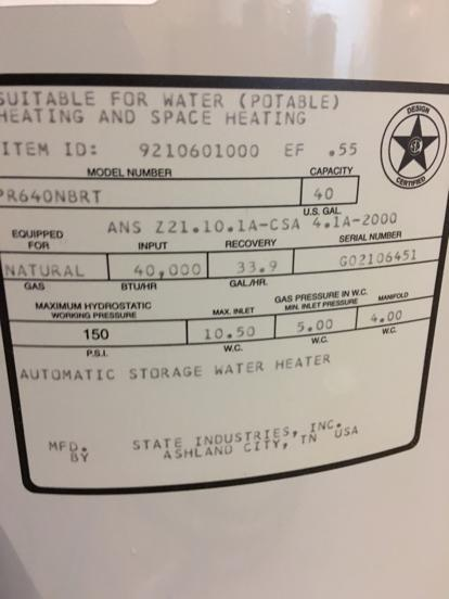 state select water heater checkins