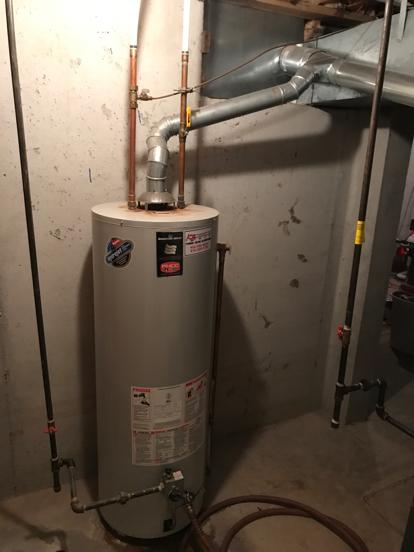 Poor installation of gas water heater