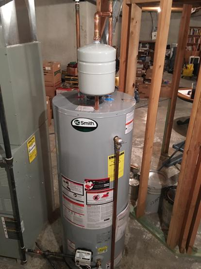 AO Smith with thermal expansion tank