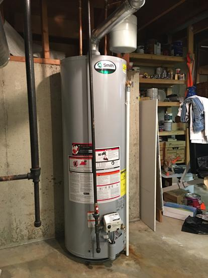 Thermal expansion tank and new water heater