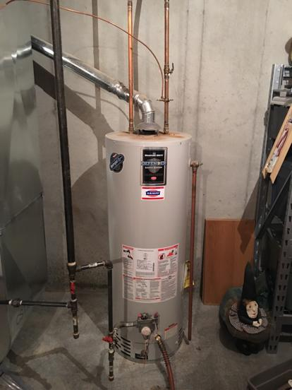 backdrafting hot water heater