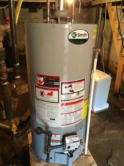 short hot water tank