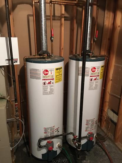 Riss Lake water heater installation