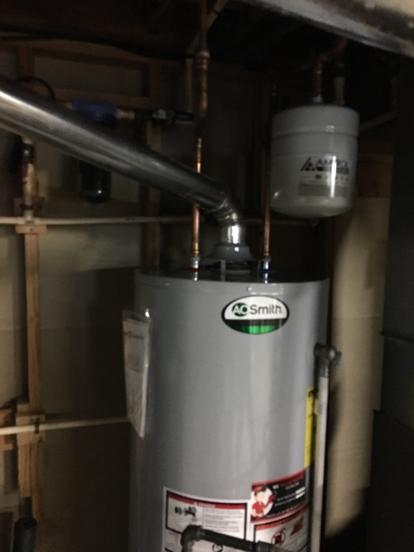 expansion tank with water heater