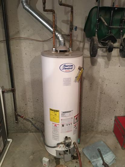 Hook up hot water tank